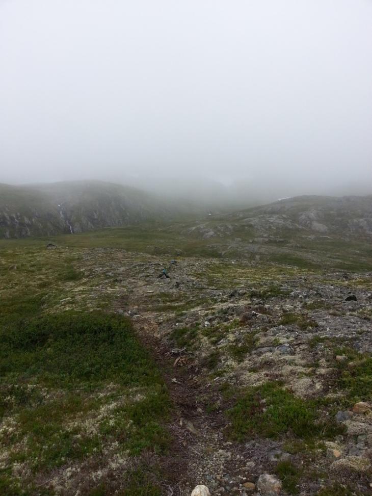 7km - 8km - her får man liten pause, en kilometer med lettere terreng inn til foten av selve Resfjelltoppen.